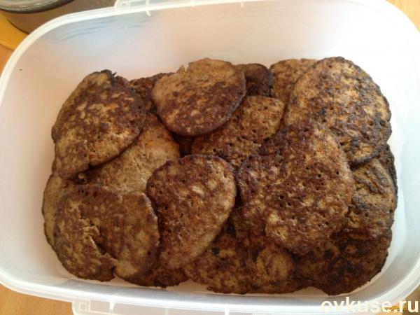 Сальники из куриной печени и рисом с фото