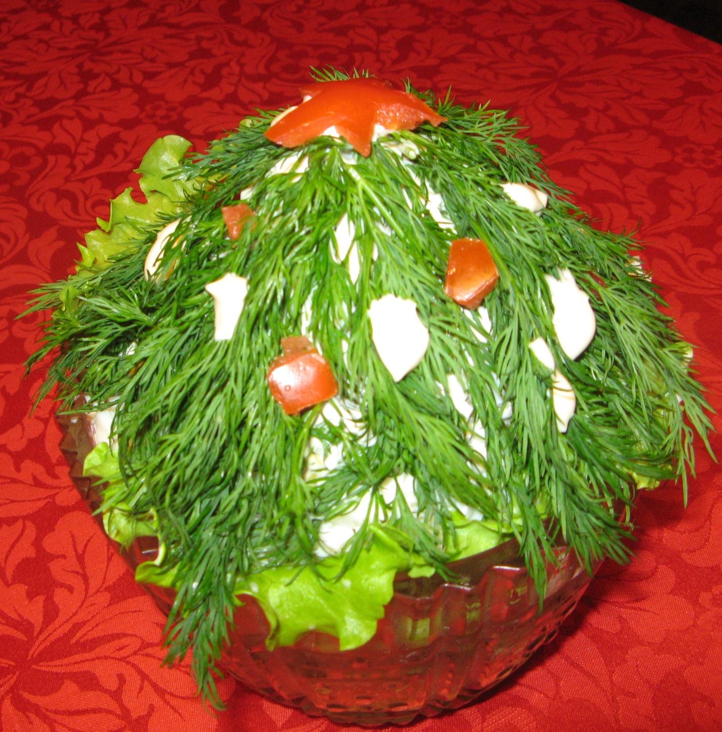 Необычный салат к новому году с рецептами