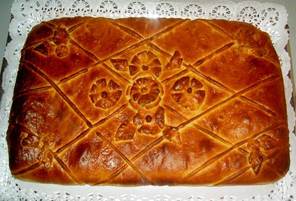 Как сделать красивый пирог из дрожжевого теста фото 664
